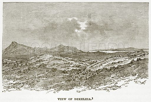 View of Dekeleia. Illustration from History of Greece by Victor Duruy (Boston, 1890).