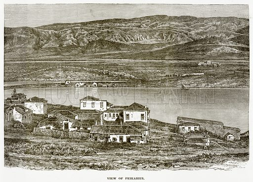 View of Peiraieus. Illustration from History of Greece by Victor Duruy (Boston, 1890).