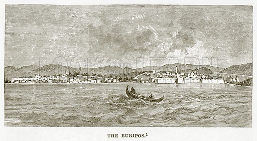 The Euripos. Illustration from History of Greece by Victor Duruy (Boston, 1890).