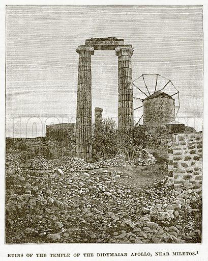 Ruins of the Temple of the Didymaian Apollo, near Miletos. Illustration from History of Greece by Victor Duruy (Boston, 1890).