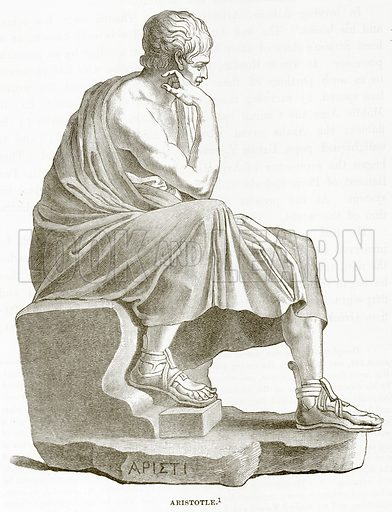 Aristotle. Illustration from History of Greece by Victor Duruy (Boston, 1890).