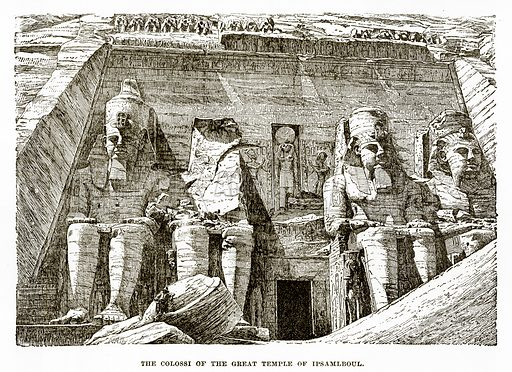 The Colossi of the Great Temple of Ipsamlboul. Illustration from History of Greece by Victor Duruy (Boston, 1890).