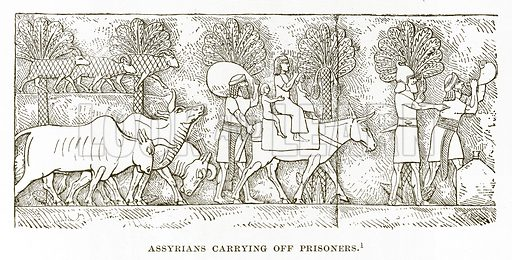 Assyrians carrying off Prisoners. Illustration from History of Greece by Victor Duruy (Boston, 1890).