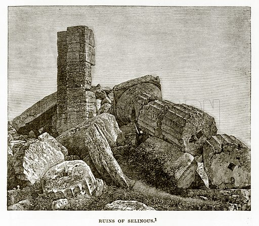 Ruins of Selinous. Illustration from History of Greece by Victor Duruy (Boston, 1890).