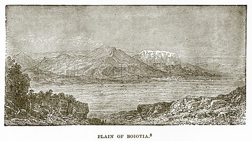 Plain of Boiotia. Illustration from History of Greece by Victor Duruy (Boston, 1890).