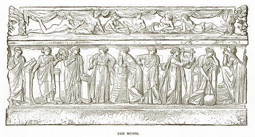 The Muses. Illustration from History of Greece by Victor Duruy (Boston, 1890).