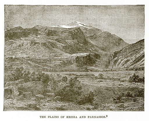 The Plains of Krissa and Parnassos. Illustration from History of Greece by Victor Duruy (Boston, 1890).