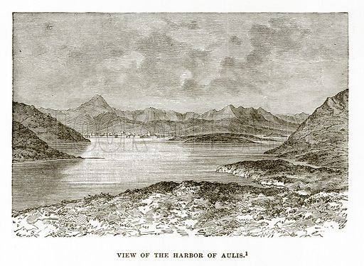 View of the Harbor of Aulis. Illustration from History of Greece by Victor Duruy (Boston, 1890).