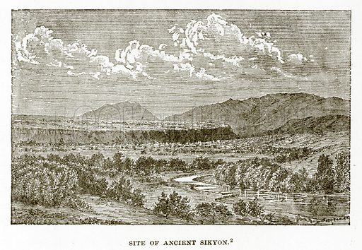 Site of Ancient Sikyon. Illustration from History of Greece by Victor Duruy (Boston, 1890).