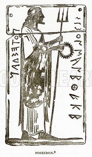 Poseidon. Illustration from History of Greece by Victor Duruy (Boston, 1890).