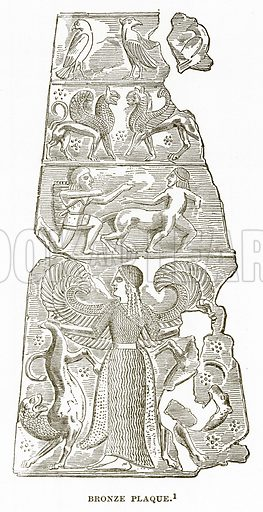 Bronze Plaque. Illustration from History of Greece by Victor Duruy (Boston, 1890).