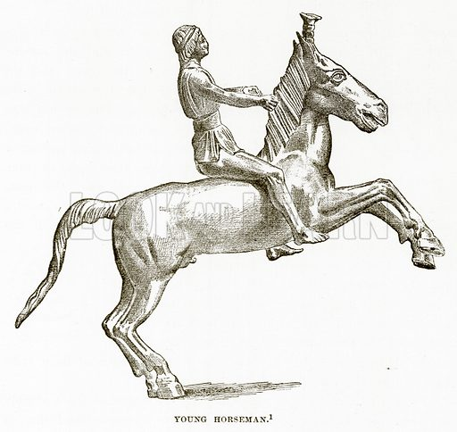 Young Horseman. Illustration from History of Greece by Victor Duruy (Boston, 1890).