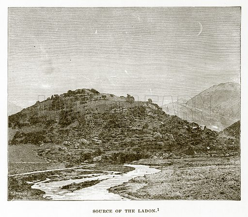 Source of the Ladon. Illustration from History of Greece by Victor Duruy (Boston, 1890).