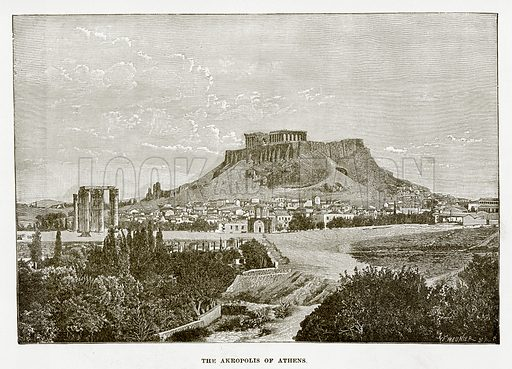 The Akropolis of Athens. Illustration from History of Greece by Victor Duruy (Boston, 1890).