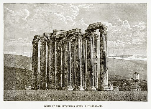Ruins of the Olympieion. Illustration from History of Greece by Victor Duruy (Boston, 1890).