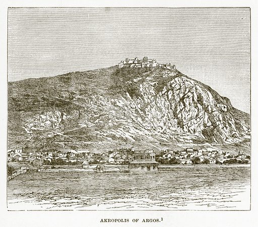 Akropolis of Argos. Illustration from History of Greece by Victor Duruy (Boston, 1890).