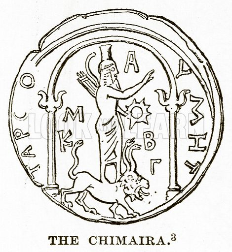The Chimaira. Illustration from History of Greece by Victor Duruy (Boston, 1890).
