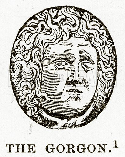 The Gorgon. Illustration from History of Greece by Victor Duruy (Boston, 1890).