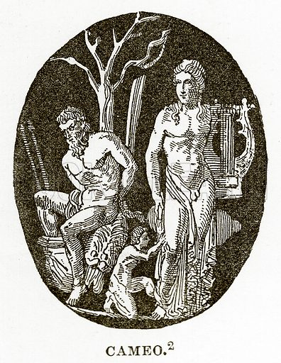 Cameo. Illustration from History of Greece by Victor Duruy (Boston, 1890).
