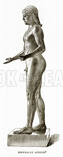 Didymaian Apollo. Illustration from History of Greece by Victor Duruy (Boston, 1890).