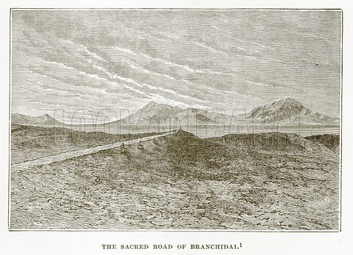The Sacred Road of Branchidai. Illustration from History of Greece by Victor Duruy (Boston, 1890).