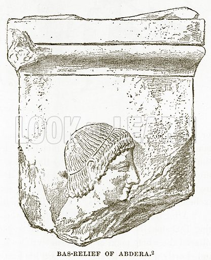 Bas-Relief of Abdera. Illustration from History of Greece by Victor Duruy (Boston, 1890).