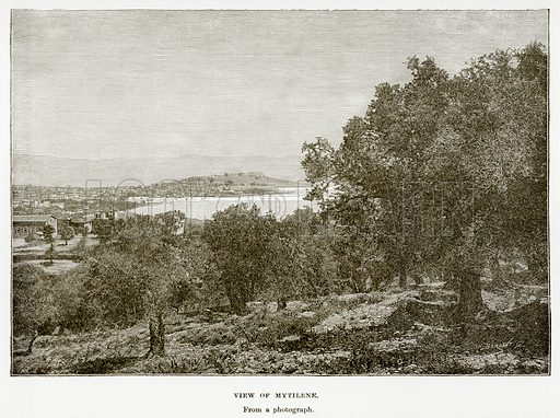 View of Mytilene. Illustration from History of Greece by Victor Duruy (Boston, 1890).