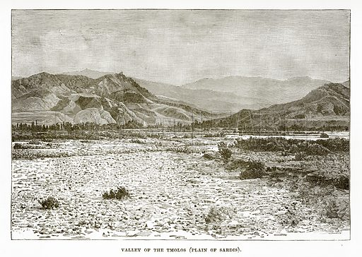 Valley of the Tmolos (Plain of Sardis). Illustration from History of Greece by Victor Duruy (Boston, 1890).