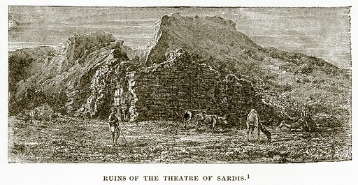 Ruins of the Theatre of Sardis. Illustration from History of Greece by Victor Duruy (Boston, 1890).
