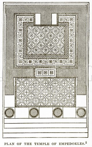 Plan of the Temple of Empedokles. Illustration from History of Greece by Victor Duruy (Boston, 1890).