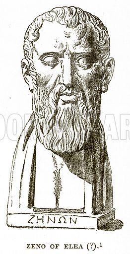 Zeno of Elea (?). Illustration from History of Greece by Victor Duruy (Boston, 1890).