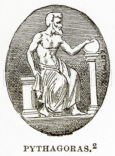 Pythagoras. Illustration from History of Greece by Victor Duruy (Boston, 1890).