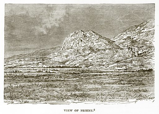 View of Priene. Illustration from History of Greece by Victor Duruy (Boston, 1890).