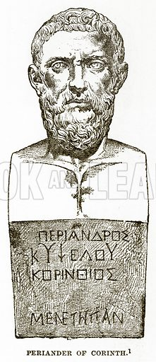 Periander of Corinth. Illustration from History of Greece by Victor Duruy (Boston, 1890).