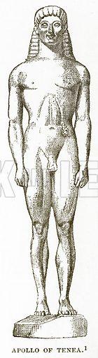Apollo of Tenea. Illustration from History of Greece by Victor Duruy (Boston, 1890).