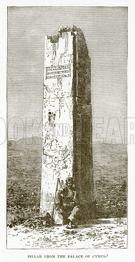 Pillar from the Palace of Cyrus. Illustration from History of Greece by Victor Duruy (Boston, 1890).