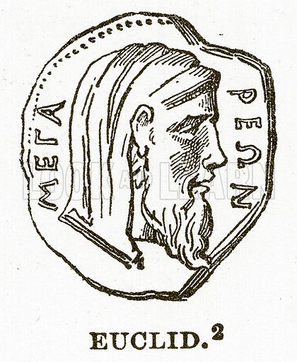 Euclid. Illustration from History of Greece by Victor Duruy (Boston, 1890).
