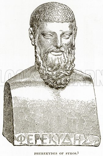 Pherekydes of Syros. Illustration from History of Greece by Victor Duruy (Boston, 1890).