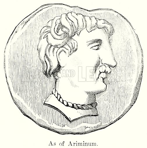 As of Ariminum. Illustration from History of Rome by Victor Duruy (Kegan Paul, Trench & Co, 1884).