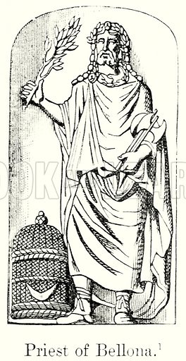 Priest of Bellona. Illustration from History of Rome by Victor Duruy (Kegan Paul, Trench & Co, 1884).