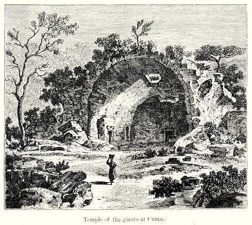 Temple of the giants at Cumae. Illustration from History of Rome by Victor Duruy (Kegan Paul, Trench & Co, 1884).