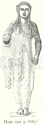 Hope. Illustration from History of Rome by Victor Duruy (Kegan Paul, Trench & Co, 1884).