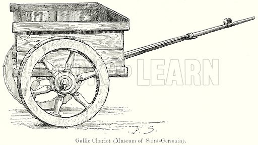 Gallic Chariot (Museum of Saint-Germain). Illustration from History of Rome by Victor Duruy (Kegan Paul, Trench & Co, 1884).