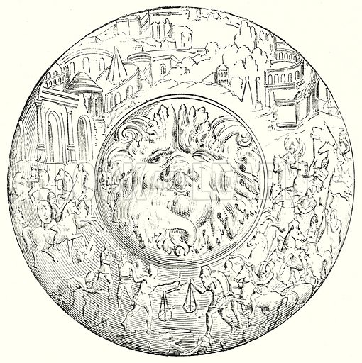 Plate. Illustration from History of Rome by Victor Duruy (Kegan Paul, Trench & Co, 1884).