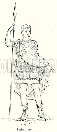 Paludamentum. Illustration from History of Rome by Victor Duruy (Kegan Paul, Trench & Co, 1884).
