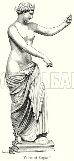 Venus of Capua. Illustration from History of Rome by Victor Duruy (Kegan Paul, Trench & Co, 1884).