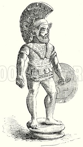 Carthaginian Warrior (?). Illustration from History of Rome by Victor Duruy (Kegan Paul, Trench & Co, 1884).