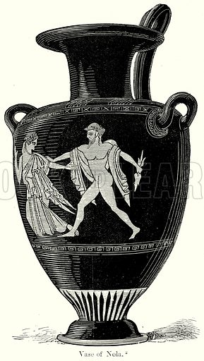 Vase of Nola. Illustration from History of Rome by Victor Duruy (Kegan Paul, Trench & Co, 1884).