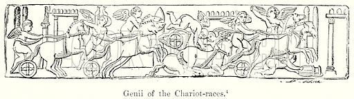Genii of the Chariot-Races. Illustration from History of Rome by Victor Duruy (Kegan Paul, Trench & Co, 1884).