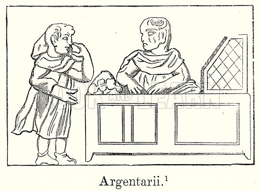 Argentarii. Illustration from History of Rome by Victor Duruy (Kegan Paul, Trench & Co, 1884).